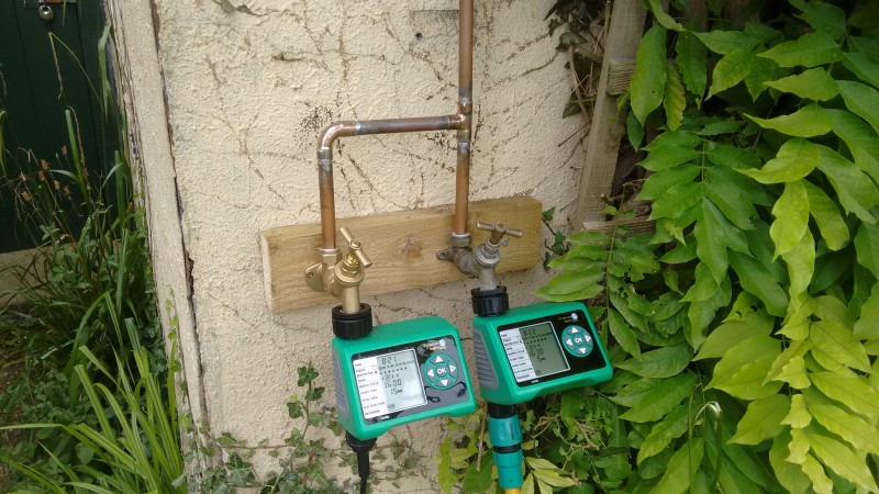 using water timers for plant watering when on holiday