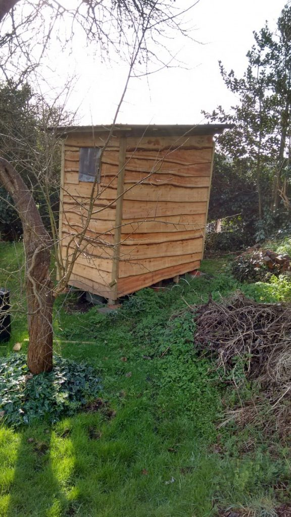 My compost toilet, exterior view