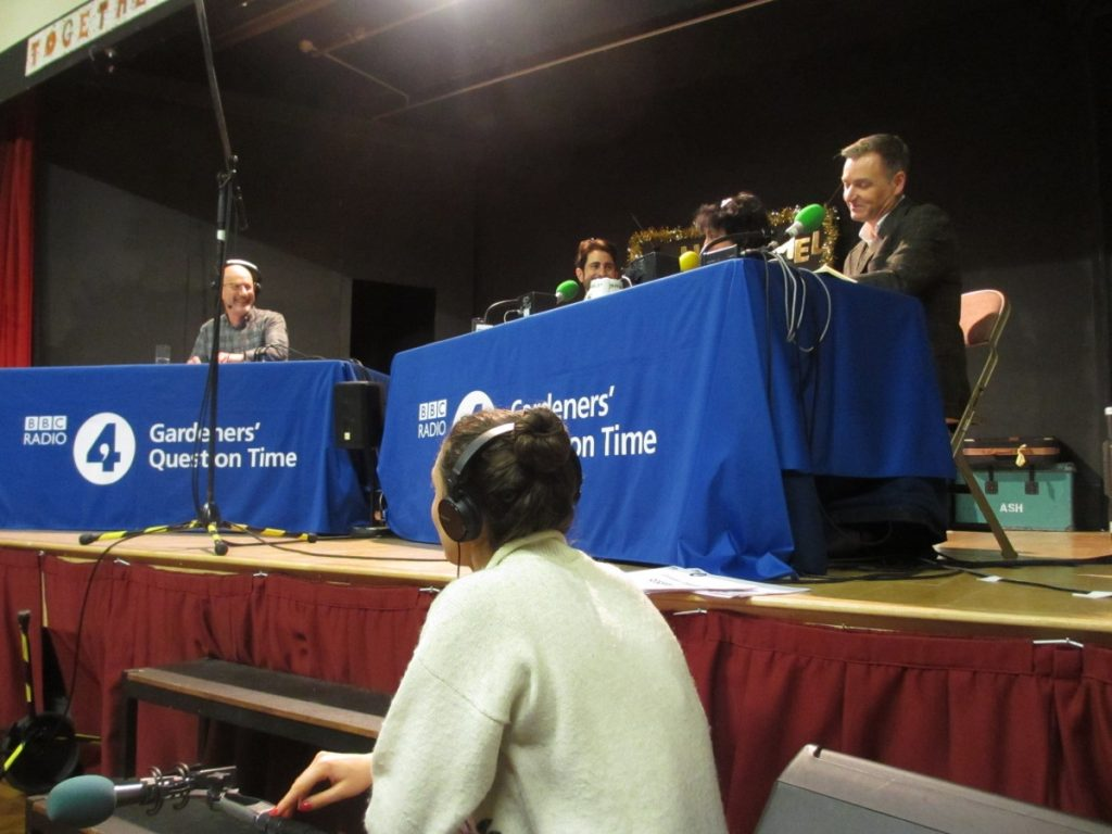 Recording of Gardeners' Question Time, Nailsworth 17th December 2019, broadcast 19th January 2020.